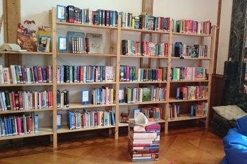 Bücherregal in der Bücherwelt