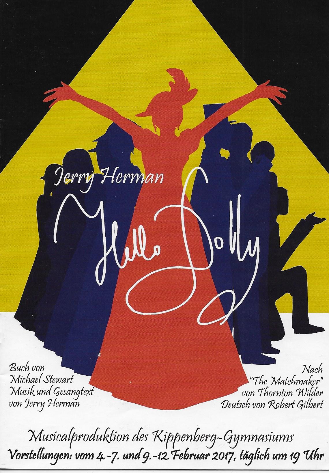 Plakat zum Musical Hello Dolly